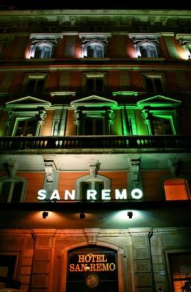 Hotel San Remo, Rome, Facade